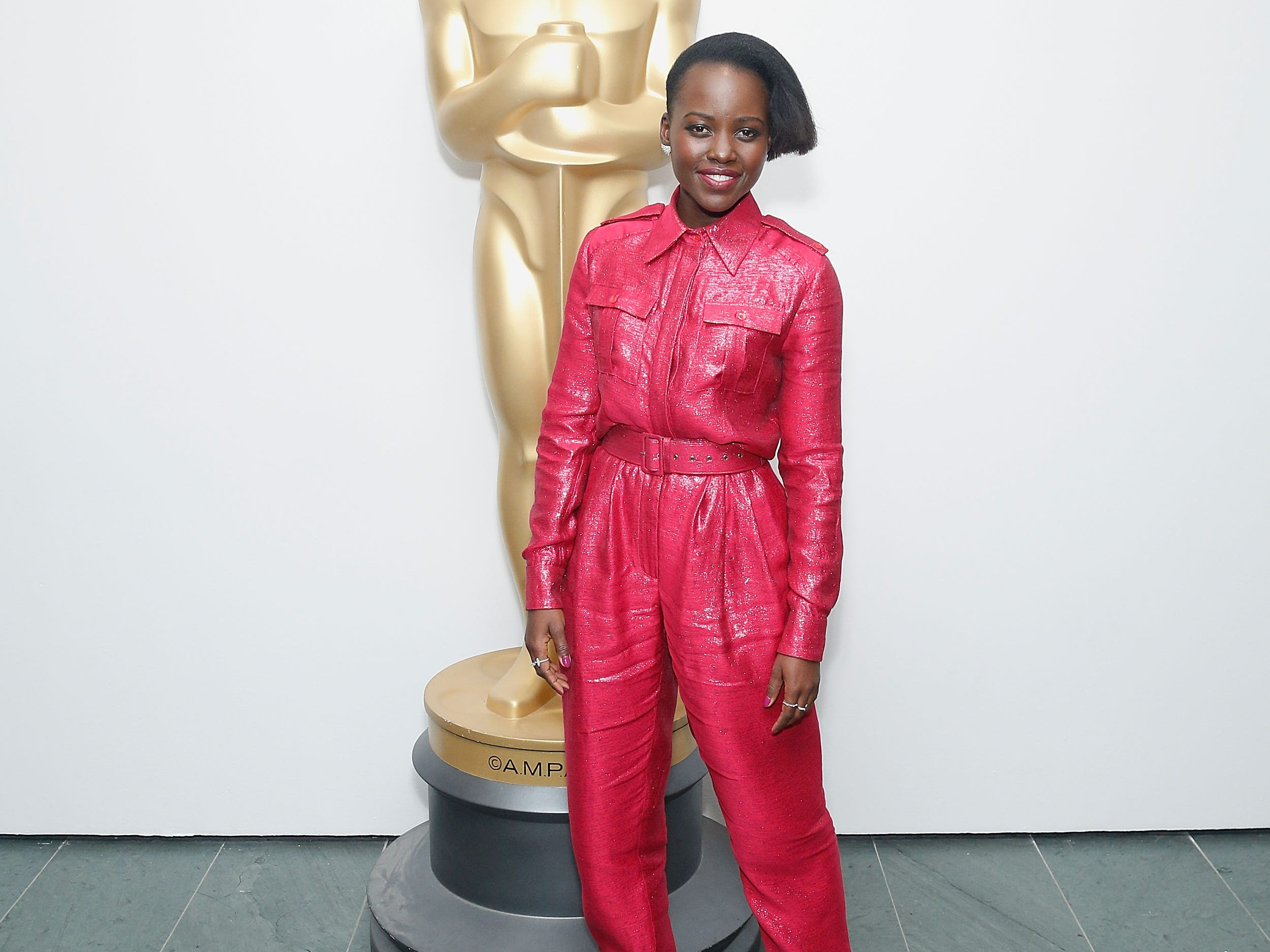 NEW YORK, NY - MARCH 18:  Actor Lupita Nyong'o attends The Academy of Motion Picture Arts and Sciences official screening of Us at the MoMA Celeste Bartos Theater on March 18, 2019 in New York City.  (Photo by ) ORG XMIT: 775316155 ORIG FILE ID: 1131555017