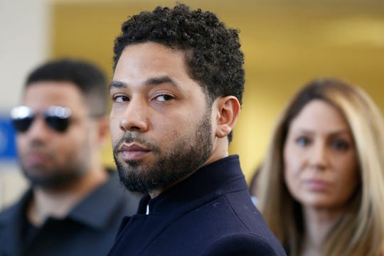 Actor Jussie Smollett after his court appearance at Leighton Courthouse on March 26, 2019, in Chicago.