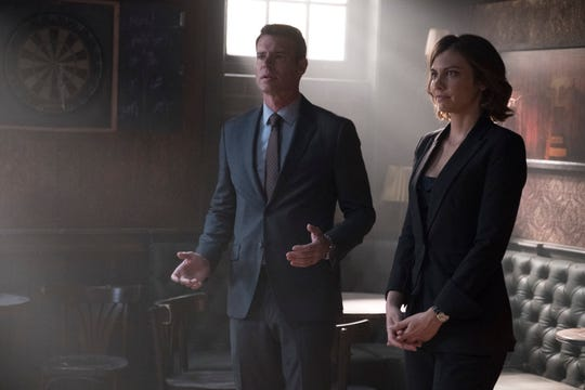 """New spring drama """"Whiskey Cavalier,"""" starring Scott Foley and Lauren Cohan, is on the fence for renewal."""