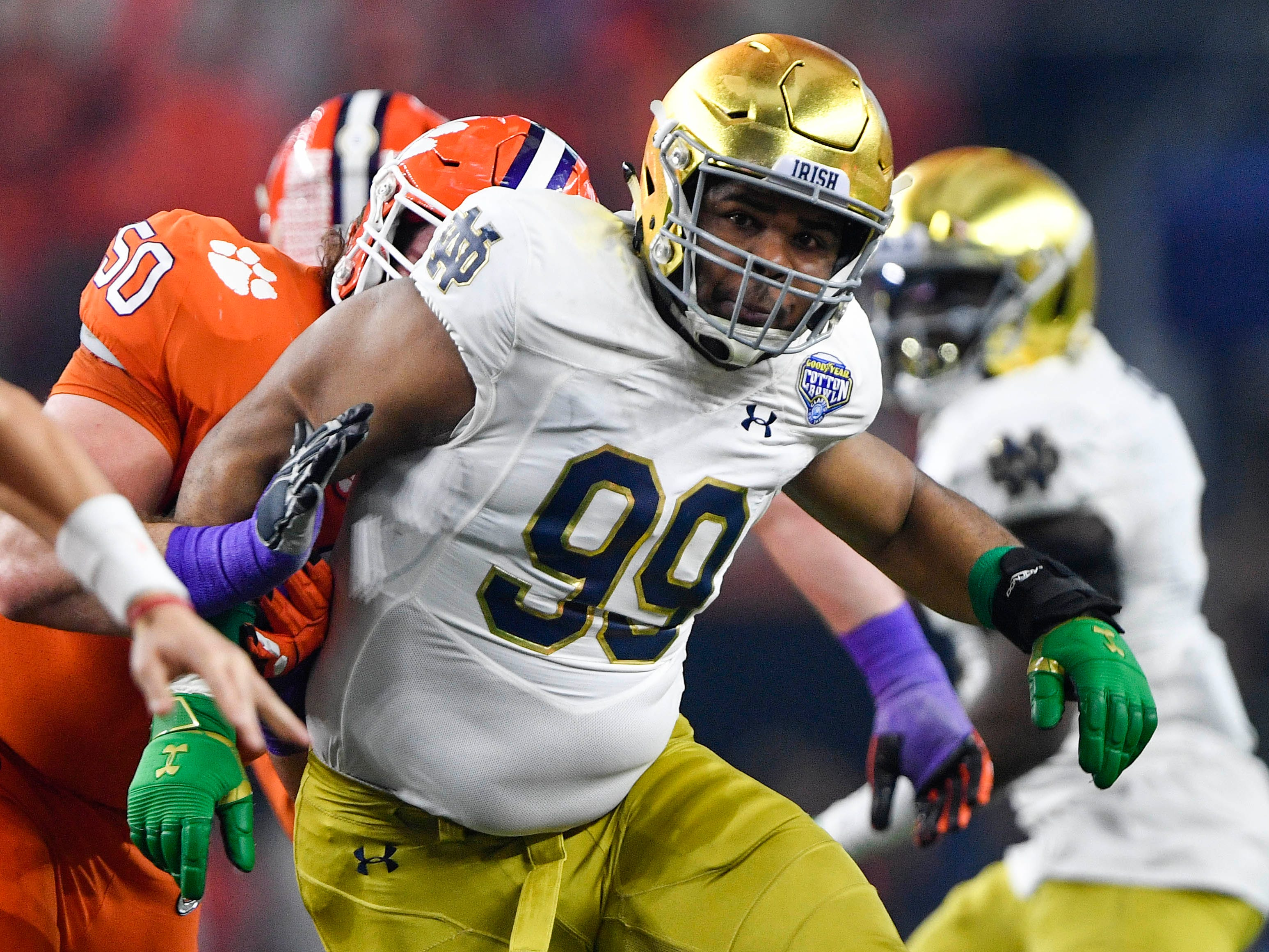 28. Chargers - Jerry Tillery, DT, Notre Dame