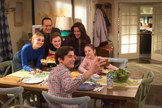 """American Housewife"" (ABC, three seasons) with Meg Donnelly, Diedrich Bader, Daniel DiMaggio, Logan Pepper, Katy Mixon and Julia Butters"