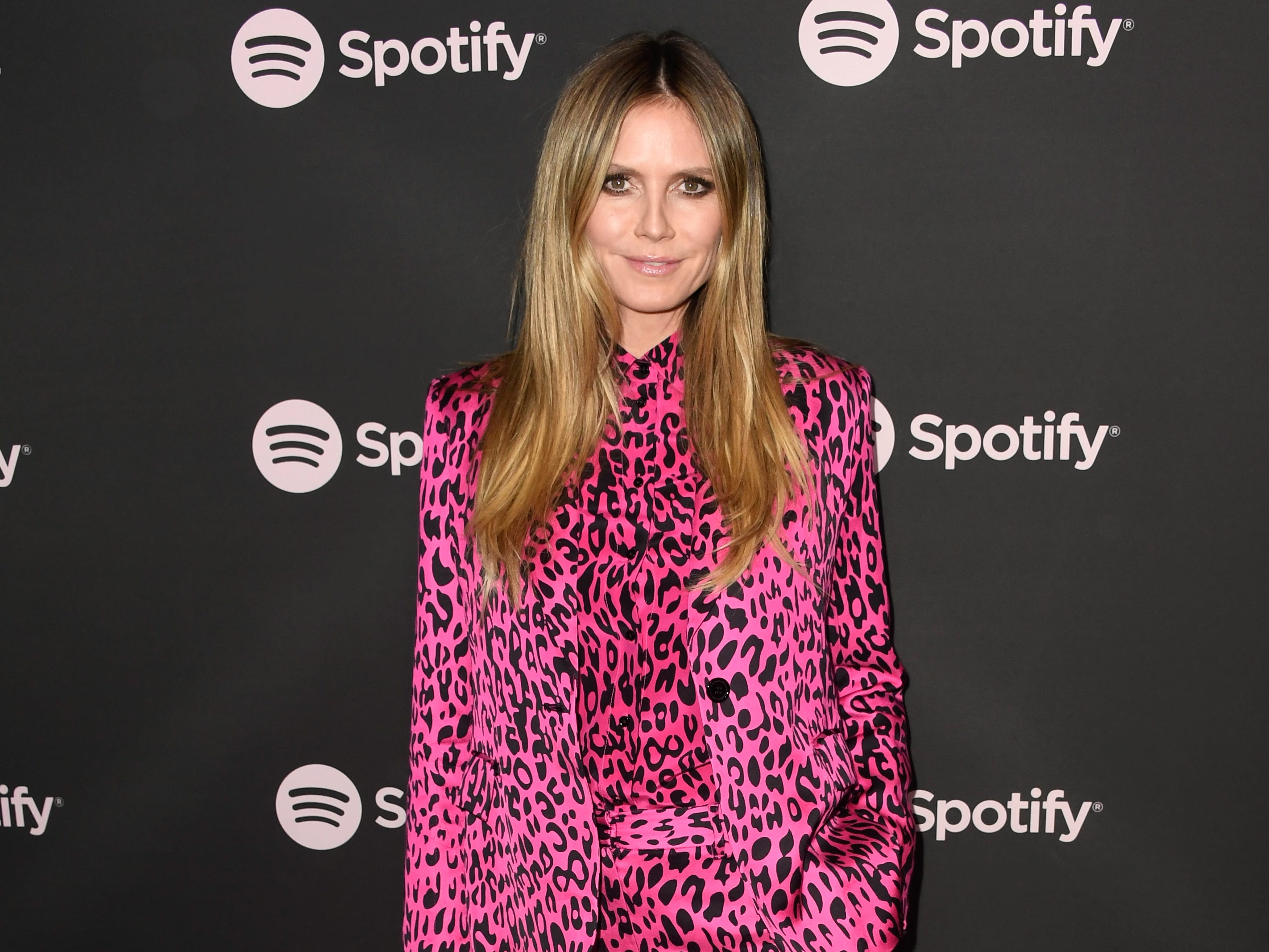 "LOS ANGELES, CA - FEBRUARY 07:  Heidi Klum attends Spotify ""Best New Artist 2019"" event at Hammer Museum on February 7, 2019 in Los Angeles, California.  (Photo by Frazer Harrison/Getty Images for Spotify) ORG XMIT: 775293448 ORIG FILE ID: 1095262732"