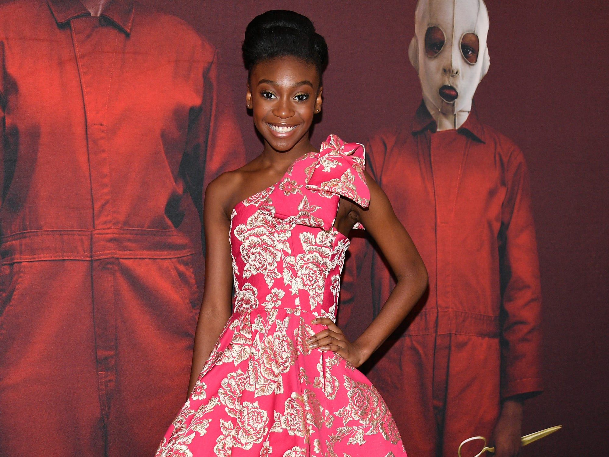 "NEW YORK, NEW YORK - MARCH 19: Shahadi Wright Joseph attends the ""US"" New York Premiere at The Museum of Modern Art on March 19, 2019 in New York City. (Photo by Dia Dipasupil/WireImage) ORG XMIT: 775314598 ORIG FILE ID: 1136912386"