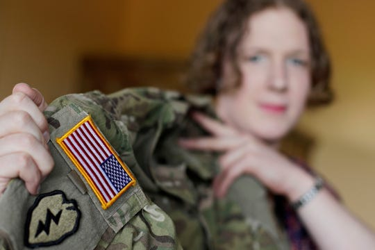 Transgender Army Capt. Jennifer Sims in 2017 near Regensburg, Germany.