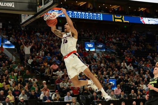 Brandon Clarke dunks for Gonzaga.