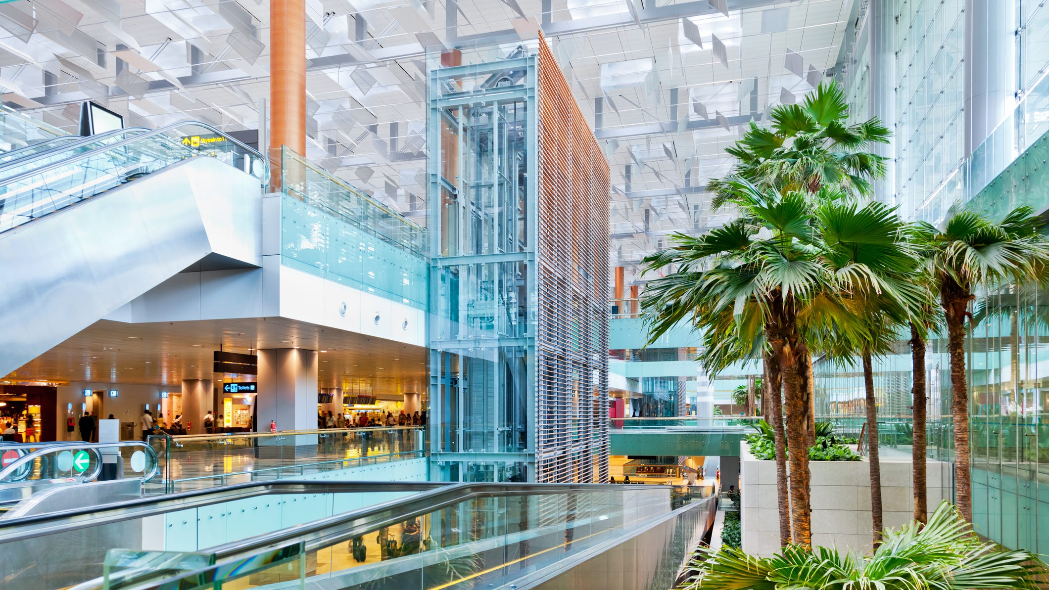 Singapore's Changi Airport, shown here, has been named the world's best for the seventh year in a row in the World Airport Awards by Skytrax. Scroll through this gallery to get a look at the top 25 airports for 2019.