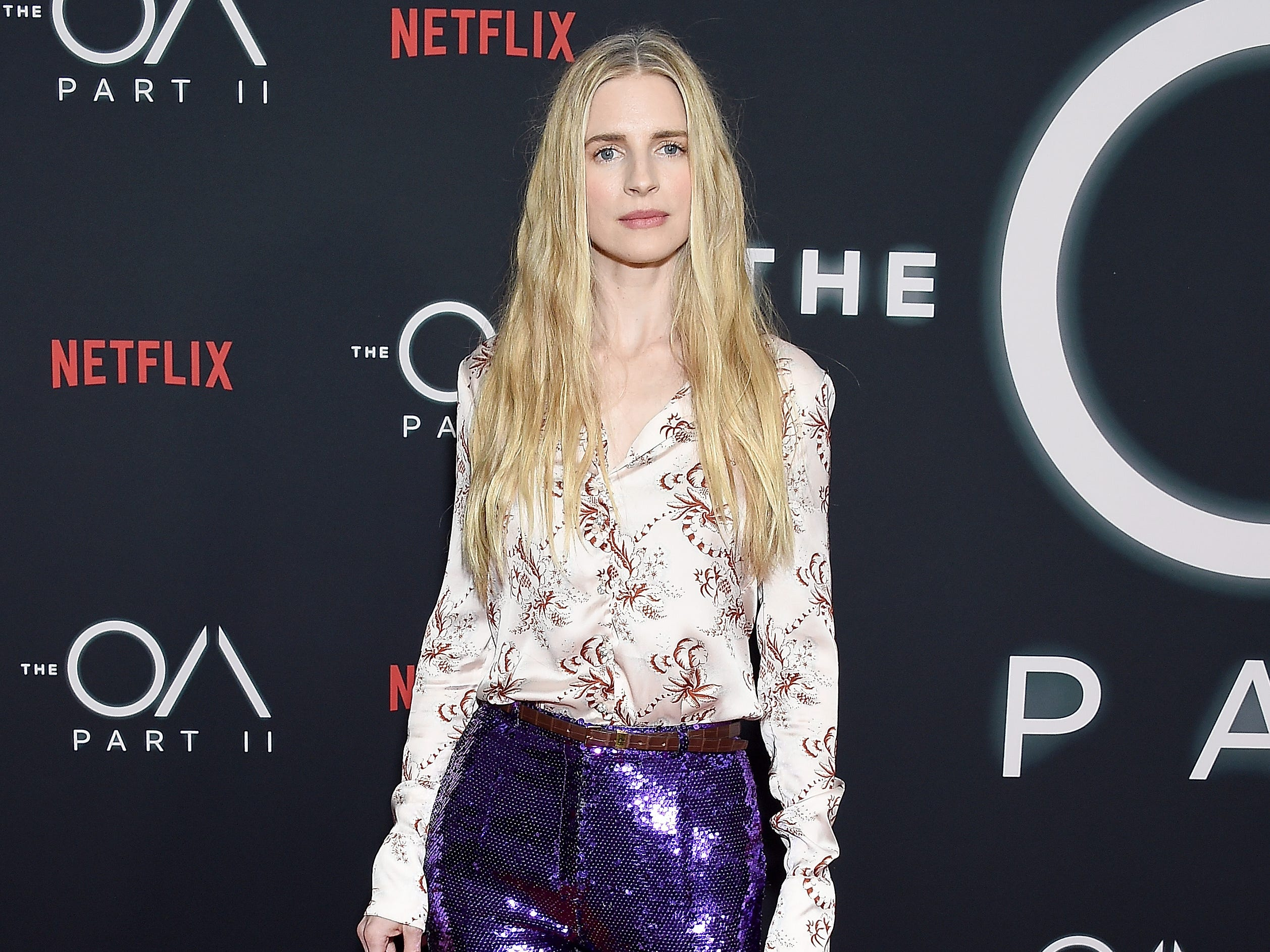 "LOS ANGELES, CA - MARCH 19:  Brit Marling arrives at Netflix's ""The OA Part II"" Premiere at LACMA on March 19, 2019 in Los Angeles, California.  (Photo by Gregg DeGuire/WireImage) ORG XMIT: 775312052 ORIG FILE ID: 1131638888"