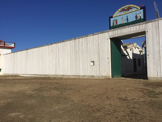 The entrance to the Fort Union Trading Post.