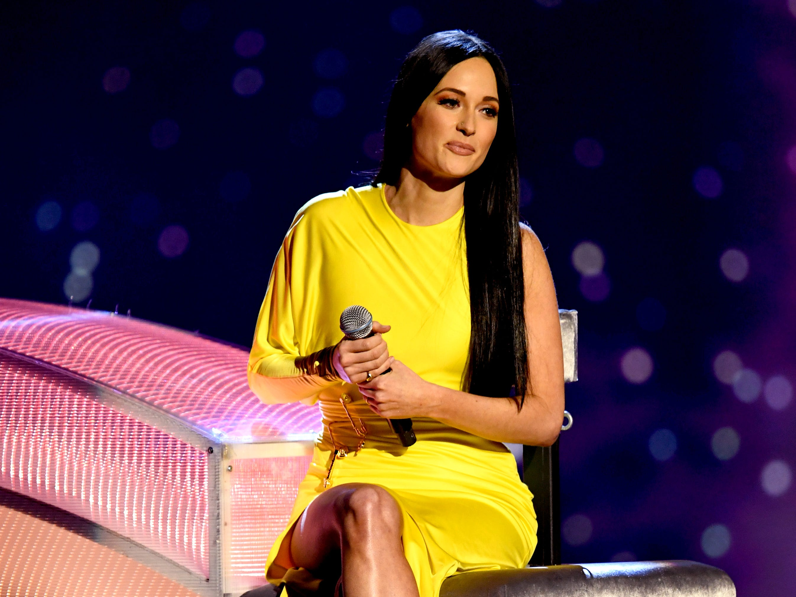 LOS ANGELES, CALIFORNIA - MARCH 14: (EDITORIAL USE ONLY. NO COMMERCIAL USE)  Kacey Musgraves performs on stage at the 2019 iHeartRadio Music Awards which broadcasted live on FOX at the Microsoft Theater on March 14, 2019 in Los Angeles, California. (Photo by Kevin Winter/Getty Images for iHeartMedia) ORG XMIT: 775306367 ORIG FILE ID: 1135862205