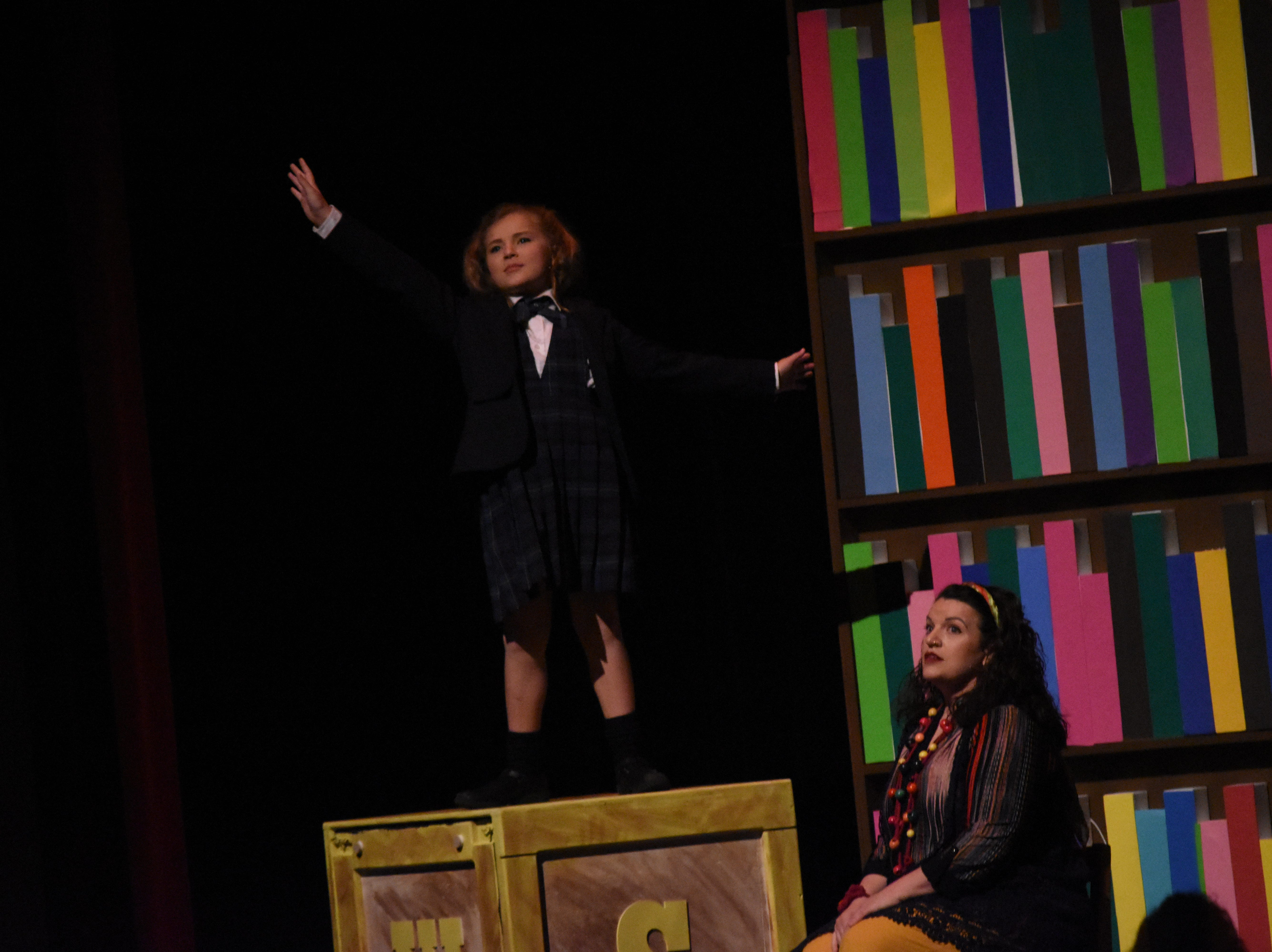 """Lagniappe Theatre Company is presenting """"Matilda the Musical"""" based on the book by Roald Dahl at 7 p.m. Thursday, Friday and Saturday and at 2:30 p.m. Sunday at the Coughlin Saunders Performing Arts Center in downtown Alexandria. Starring in the title role are Evie LaFleur and Chloe Lair. """"Matilda the Musical"""" is the story of an intelligent young girl who is born into an unloving family. She is sent away to school where her kind schoolteacher is impressed with her. The school's headmistress, however, doesn't like children and doles out cruel punishments for those who break her rules."""