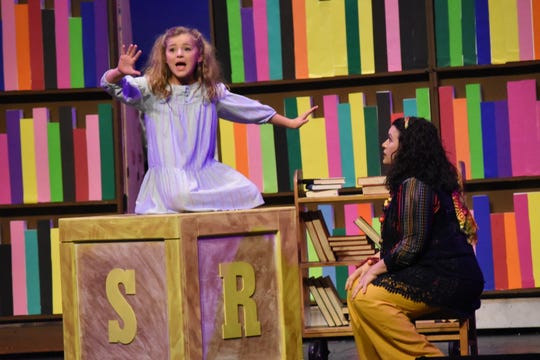 "Evie LaFleur (left) stars as Matilda and Karie LaFleur as Mrs. Phelps the librarian in Lagniappe Theatre Company's presentation of ""Matilda the Musical"" based on the book by Roald Dahl. The show begins at 7 p.m. Thursday, Friday and Saturday and at 2:30 p.m. Sunday at the Coughlin-Saunders Performing Arts Center in downtown Alexandria. Also starring as Matilda is Chloe Lair. ""Matilda the Musical"" is the story of an intelligent young girl who is born into an unloving family. She is sent away to school where her kind schoolteacher is impressed with her. The school's headmistress, however, doesn't like children and doles out cruel punishments for those who break her rules."