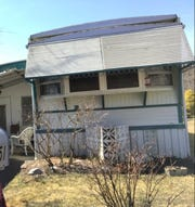 This mobile home at 51 Alissa Terrace in  Jackson is where Ashley Combs, 17, was found hiding under a bed, according to a resident of the home, Linda Roszel, 70, who has been charged with obstruction and interference with custody in the case.