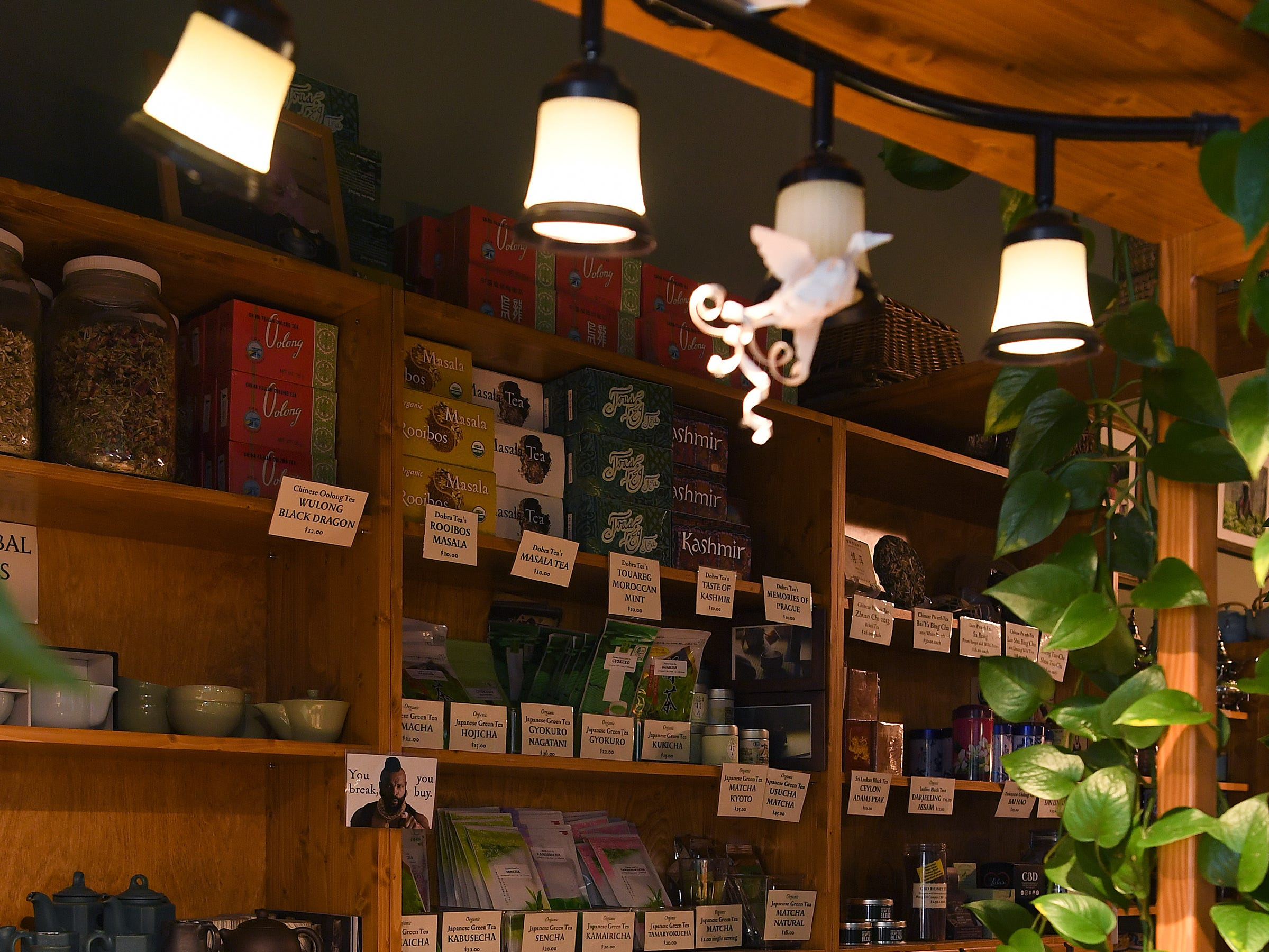 Dobra Tea's West Asheville location offers a full menu of vegetarian food choices, teas, and desserts.