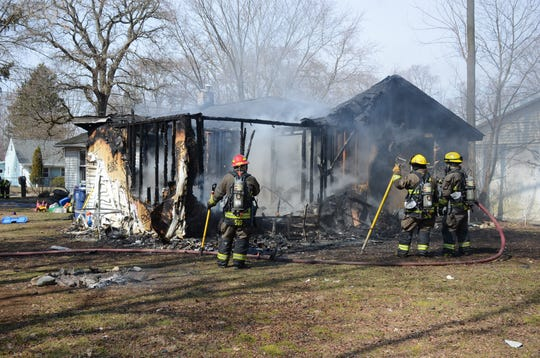 Fire on Thursday heavily damaged a home in Bedford Township.