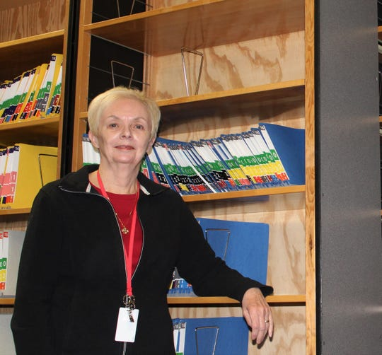 Maureen Vire has volunteered at Calhoun County Probate Court for 17 years. One of her projects was to transfer old probate files from their paper record to microfilm. The more than 6,600 files took 13 years to transfer.