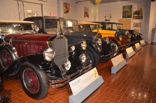 An exhibit inside the Gilmore Car Museum in Hickery Corners.