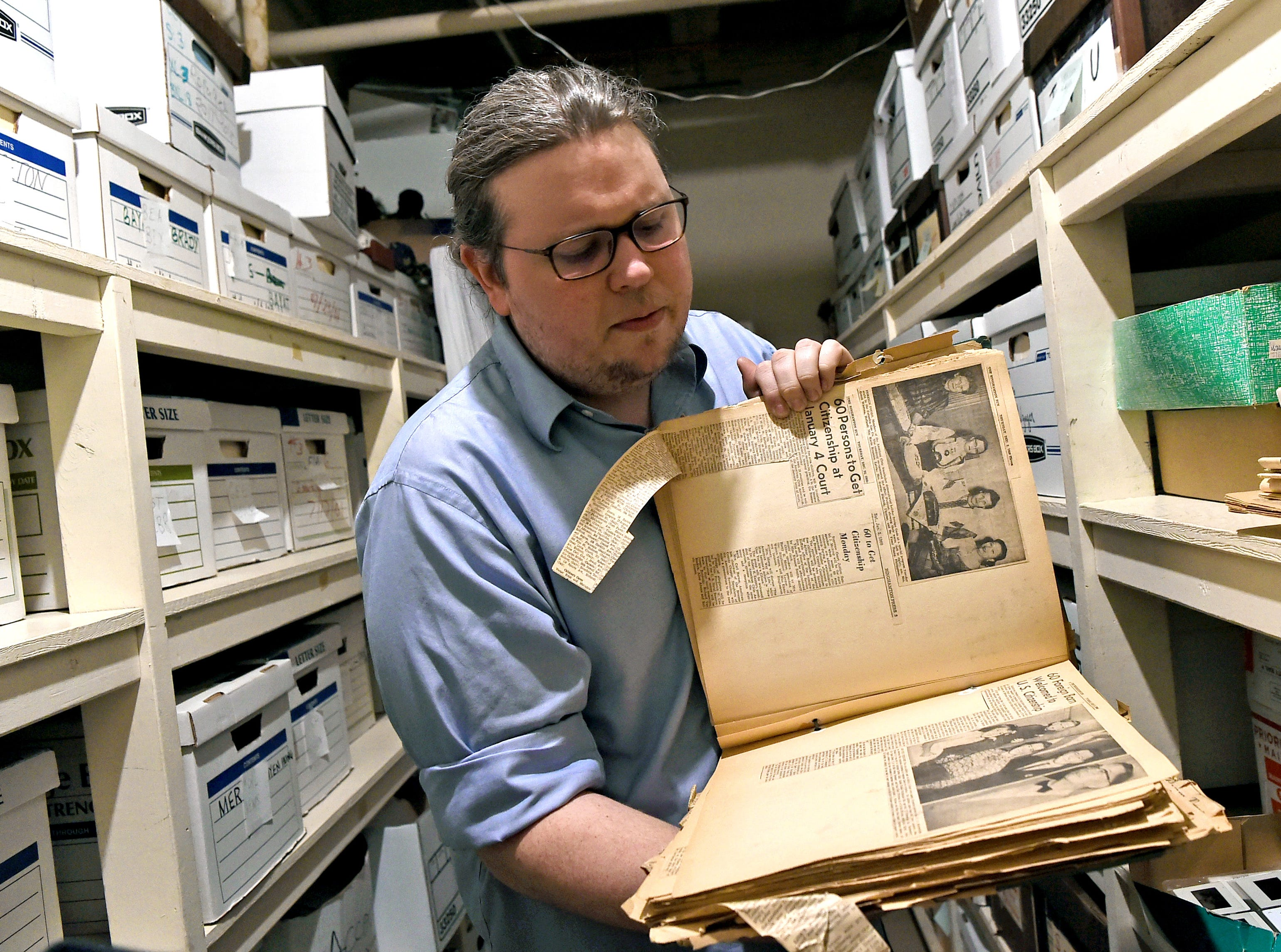 American Civic Association board member Bradley Hutchinson serves as the archivist of the American Civic Association in Binghamton. Among the first immigrants the ACA helped resettle were displaced Europeans fleeing war.