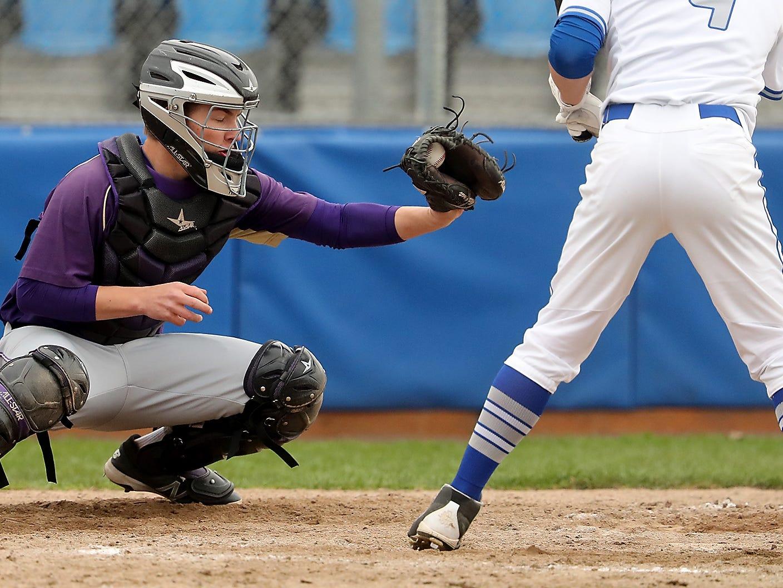 Olympic vs North Kitsap Baseball at Gene Lobe Field on Wednesday, March 27, 2019.