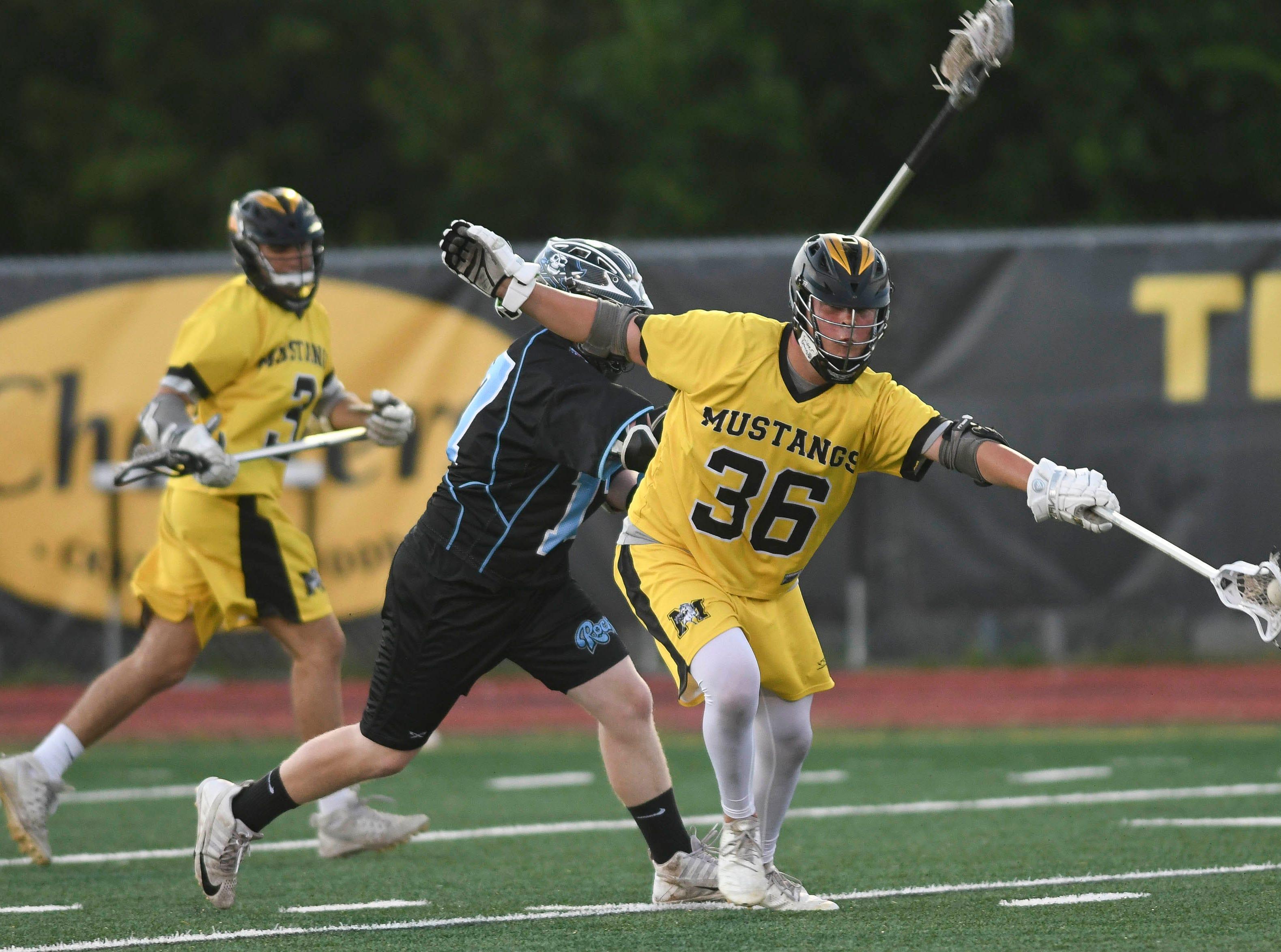 Zach Barnette of Merritt Island advances the ball during Wednesday's game against Rockledge.
