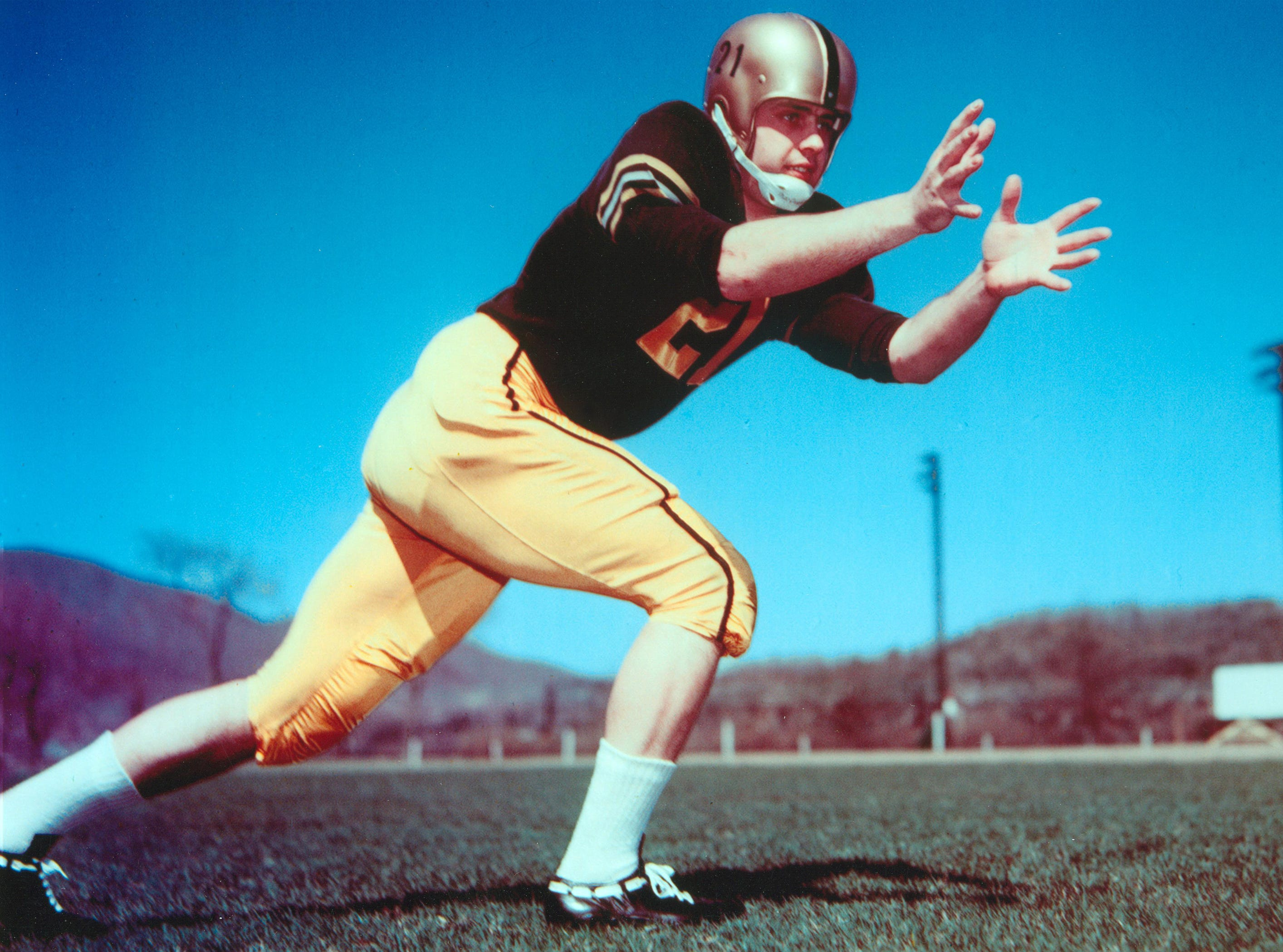 Cocoa grad Bob Anderson, pictured while playing at West Point, was picked in the ninth round by the New York Giants in 1960, the first Brevard County prep product drafted into the NFL. He was inducted into the College Football Hall of Fame in 2004. Photo courtesy of U.S. Military Academy.