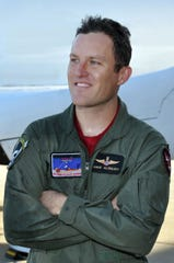 Mike Alsbury pictured in 2010 at the Mojave Air and Space Port following a Scaled Composites flight test mission. Alsbury died in a 2014 test flight of Virgin Galactic's SpaceShipTwo.