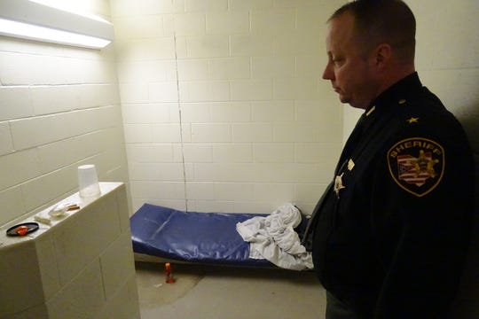 Holding cells at the Crawford County Jail are often used for prisoners who are detoxing, County Sheriff Scott Kent said.