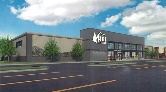 REI submitted this drawing with its application for a permit to take over the former Toys R Us building in Williston.