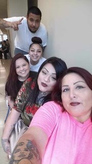 Richard Salazar poses for a photo with his family members. Salazar was shot by a Corpus Christi police officer on March 26, 2019, outside his home in the 200 block of Torreon Street.