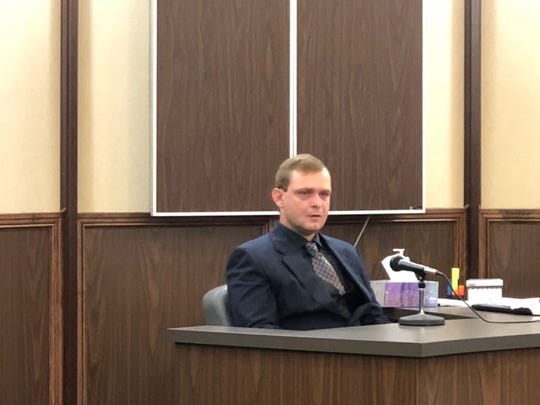 Eric Vinson testifies in court on March 28, 2019. He pleaded guilty to intoxication manslaughter and was sentenced to 13 years in prison.