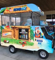 A Kona Ice kiosk - designed to look like one of the company's shaved-ice food trucks - will soon have a permanent spot inside the Cherry Hill Mall.