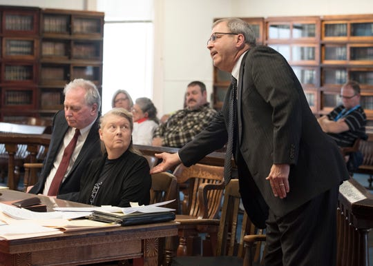 """Fredericka Wagner's attorney James Owen passionately argues to dismiss the perjury charges regarding the purchase of bullet proof vests that she bought for her son, George """"Billy"""" Wagner III, and that she was not trying to cover up her family's alleged involvement with the murders on March 28, 2019. Wagner is accused of perjury and obstructing justice for allegedly misleading investigators in the 2016 investigation concerning the murder of eight members of the Rhoden family."""