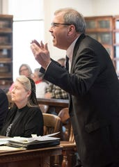 "Fredericka Wagner's attorney James Owen passionately argues to dismiss the perjury charges regarding the purchase of bullet proof vests that she bought for her son, George ""Billy"" Wagner III, and that she was not trying to cover up her family's alleged involvement with the murders on March 28, 2019. Wagner is accused of perjury and obstructing justice for allegedly misleading investigators in the 2016 investigation concerning the murder of eight members of the Rhoden family."