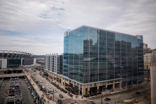 GE Global Operations Center in downtown Cincinnati Thursday, March 28, 2019.
