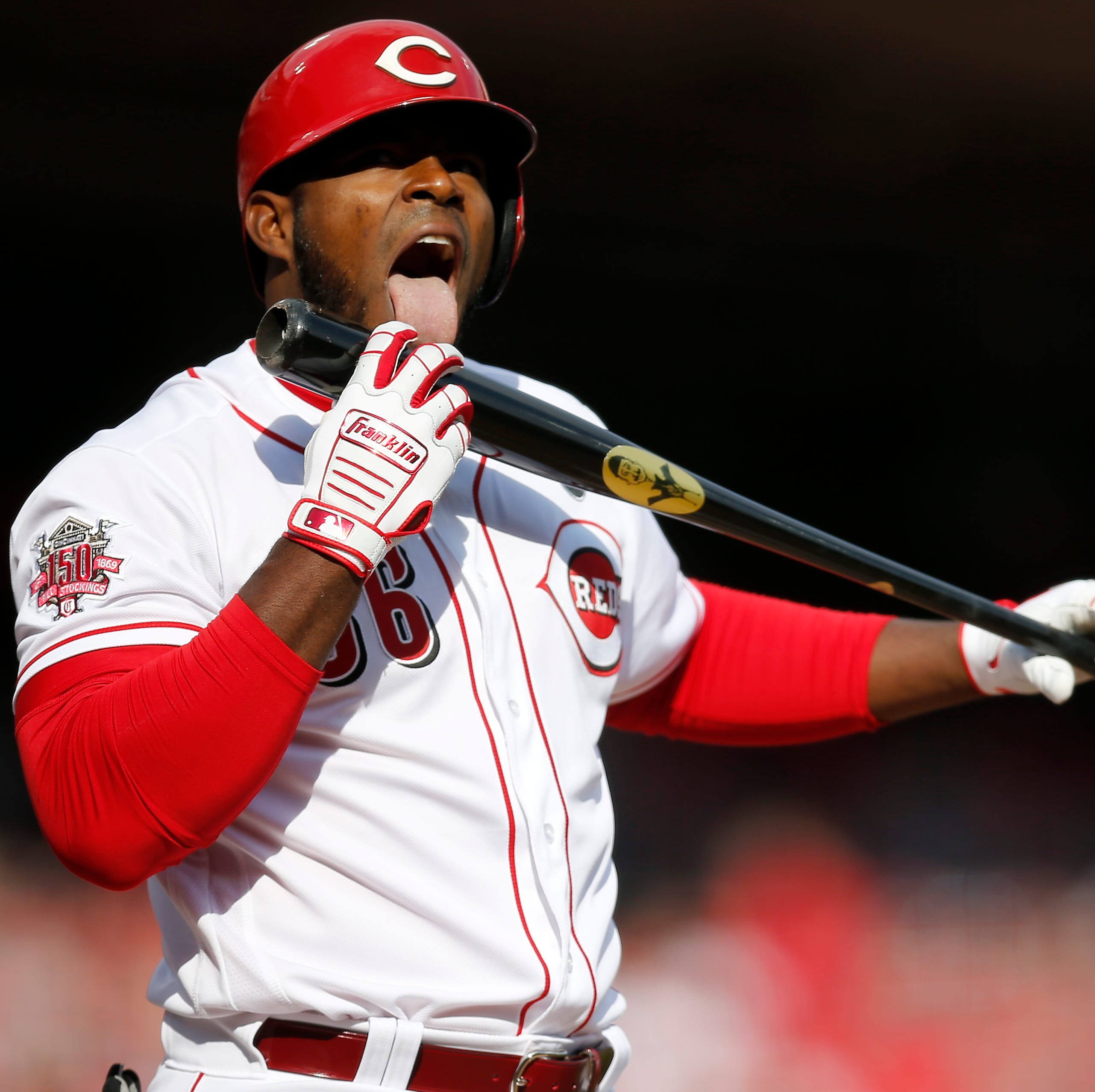 Yasiel Puig says he thinks about ice cream when licking his bat