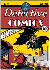 The cover of Batman's first appearance in Detective Comics No. 27 from 1939.