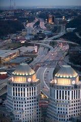 Procter & Gamble's world headquarters in downtown Cincinnati.
