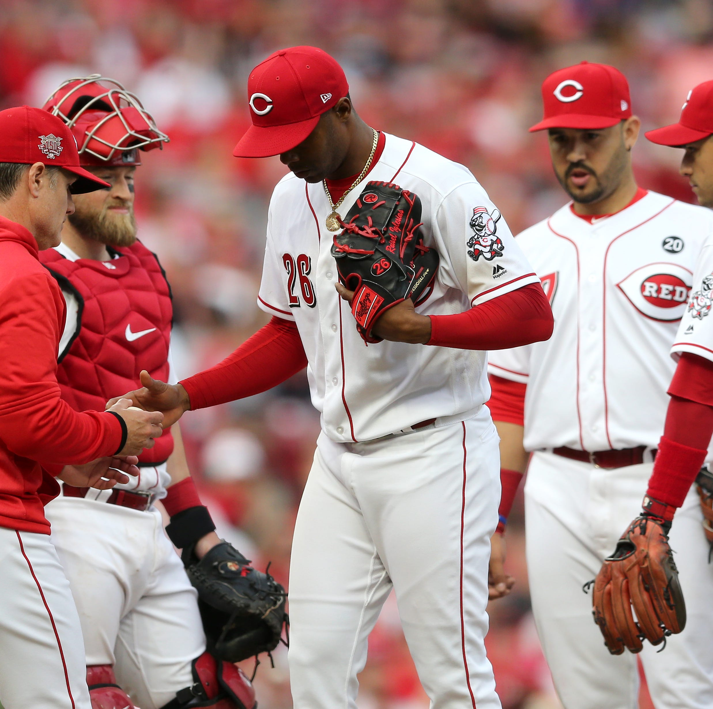Cincinnati Reds' Raisel Iglesias, manager David Bell clear the air after usage complaints