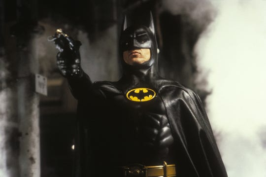 "Warner Bros.  Michael Keaton appears in a scene from 1989's ""Batman."" Michael Keaton appears in a scene from 1989's ""Batman."""