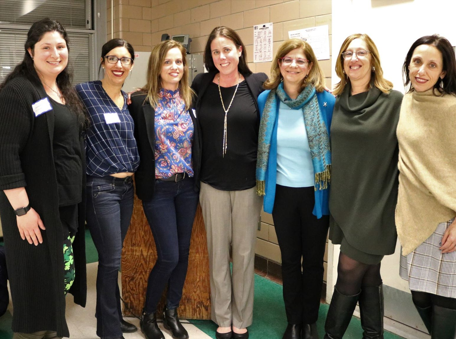 """The Westfield Parent Teacher Council Special Education Committee held its 26th Annual Awareness Expo on March 13, presenting the """"Make a Difference Award"""" to former PTC Special Education Committee Co-Chair Lisa Wendel.  Pictured here from left to right are: r) 2019 Expo Co-Chairs Suzanne Schneider and Diane Quinn, Westfield PTC - Special Education Committee Co-Chairs Amy Kolchinsky and Liz Bedner, 18th Annual Make a Difference Award recipient and former Committee Co-Chair Lisa Wendel, former Committee Co-Chair Helene Bergman, Committee Advisor Gina Totino."""