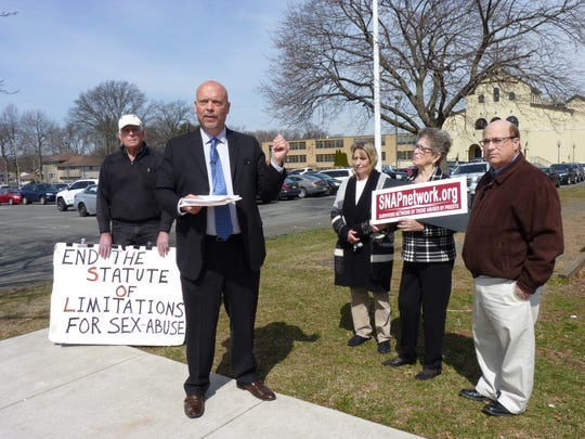 A group of clergy abuse victim advocates met with attorney Patrick Noaker on Thursday in Woodbridge to detail how a sexually abusive priest was transferred from New York to the Diocese of Metuchen under then Bishop Theodore McCarrick's watch.