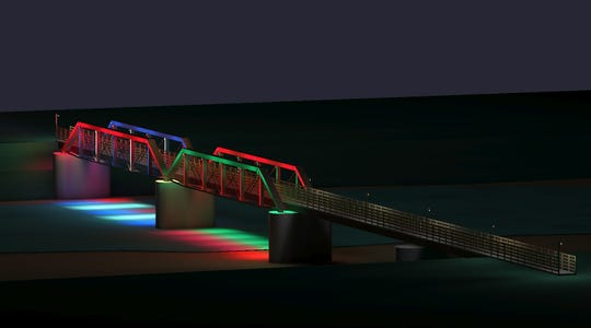 The Adel Partners Chamber of Commerce plans to add LED spotlights to the Raccoon River Valley Trail bridge.