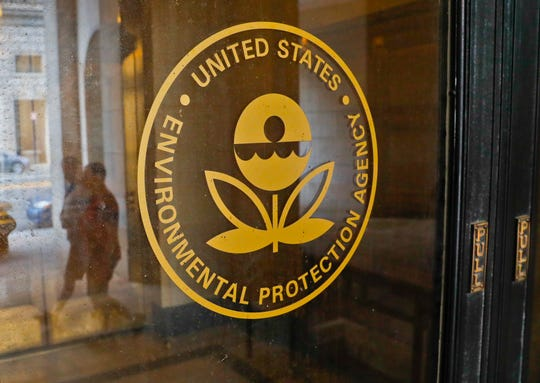 This Sept. 21, 2017, file photo shows the Environmental Protection Agency building in Washington. Flooding in the Midwest temporarily cut off a Superfund site in Nebraska that stores radioactive waste and explosives, inundated another one storing toxic chemical waste in Missouri, and limited access to others, the EPA said Wednesday, March 27, 2019. (AP Photo/Pablo Martinez Monsivais, File)