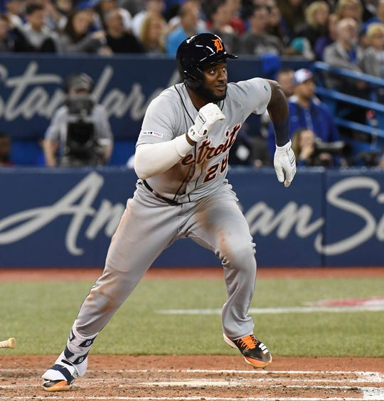 Niko Goodrum, a candidate to hit cleanup for the Tigers this season, doubled and scored the eventual winning run on Thursday against the Blue Jays.