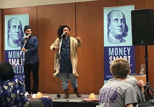 The Reminders, a hip hop group, entertained at the Money Smart Week kickoff breakfast on March 28, 2019.