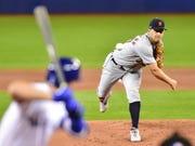 Tigers starter Jordan Zimmermann threw 70 pitches in Thursday's opener, 47 for strikes.
