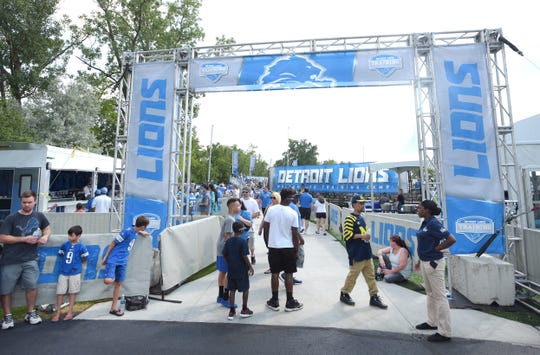 The Lions have had training camp in Allen Park since 2002.