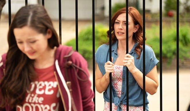 "Ashley Bratcher (right) in ""Unplanned."""