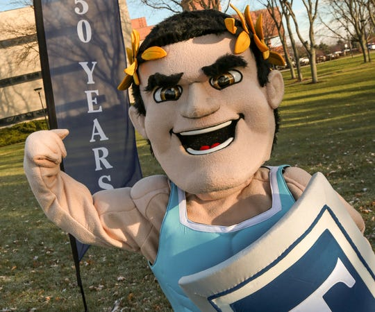 Titus, Terra State Community College's mascot, will be seen at athletic events this year. The college announced Wednesday it will be starting new women's volleyball, men's basketball and women's basketball programs in 2019.