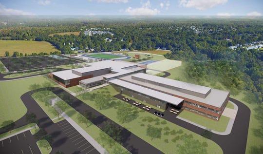 Renderings of the new Fountain Inn High School