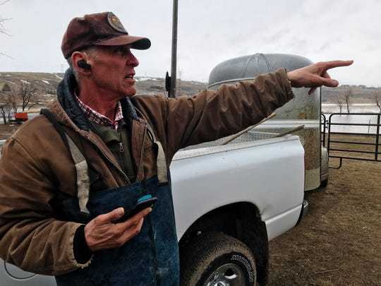 Ron Erpelding, who lives in Gibson Flats, said flooding forced him to move his cows and chickens. He suspects the rapid rise in water came from a broken stormwater pipe not regular snowmelt.